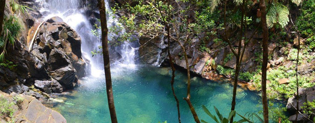 La grande cascade de la rivière bleue