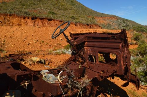 Renault truck wreck on Cosine mine